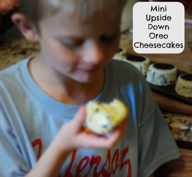 Mini Upside Down Oreo Cheesecakes