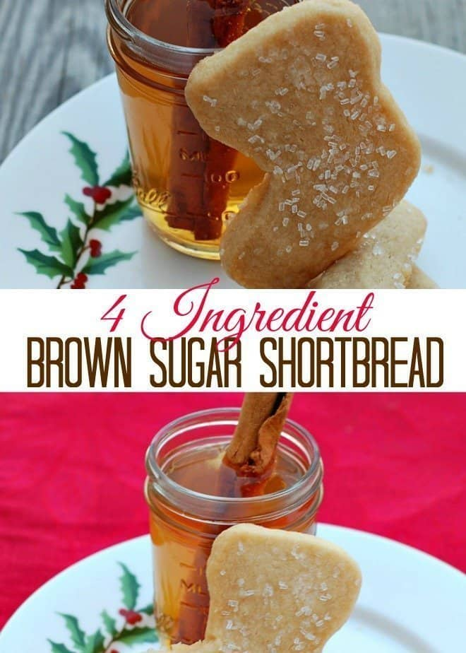 4 Ingredient Brown Sugar Shortbread - An Alli Event