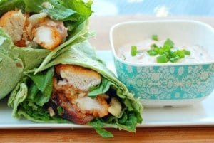 Tyson's Chicken Cordon Blue Wrap with Chipotle Dipping Sauce
