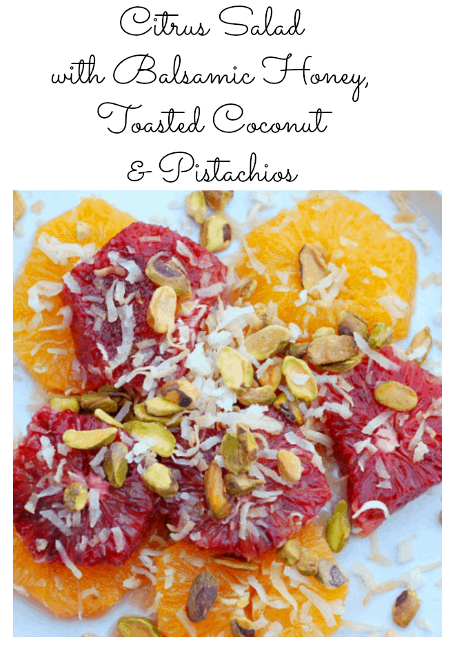 Citrus Salad with Toasted Coconut & Pistachos