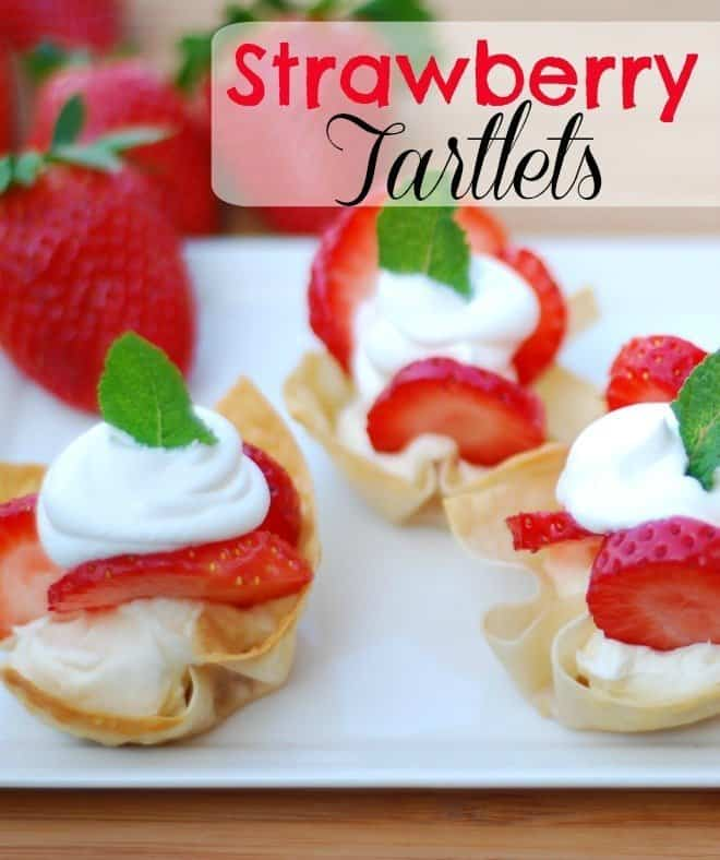 Easy Strawberry Tartlets