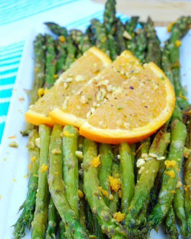 Orange Pistachio Asparagus